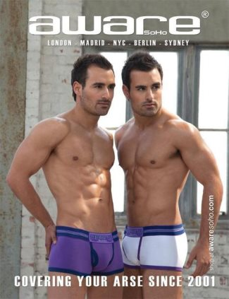 hot male twins modeling underwear - Dino and Georgio Geogiades