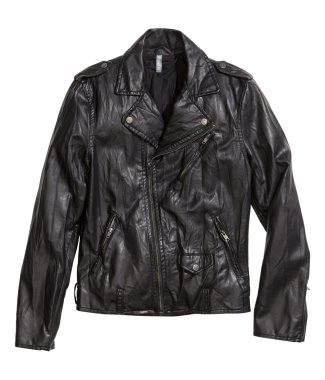 faux Leather biker jacket hm sale 39dot99 to 17