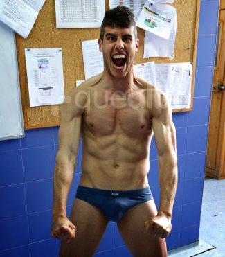 footballers wearing underwear - bikini briefs for POL BUESO