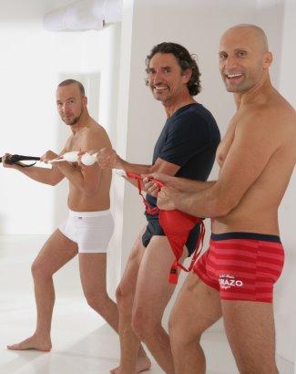 german mens underwear brands - comazo using staff as models