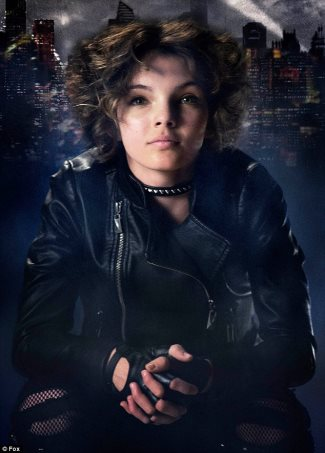 gotham leather jackets 2014 - Selina Kyle - punk teenaged Catwoman played by Camren Bicondova