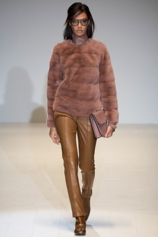 gucci skinny leather pants - fall winter 2014-2015