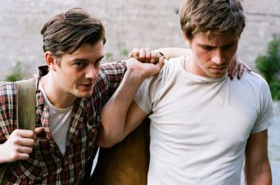is sam riley gay - with garrett hedlund in on the road