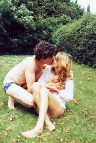 jeremy clarkson speedo - shirtless with girlfriend - 1980s