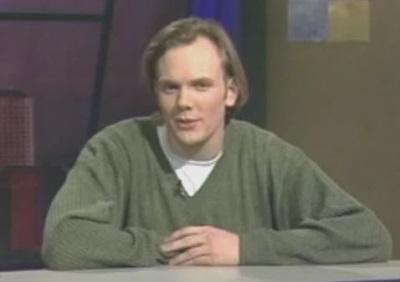 joel mchale before hair plugs - 1990s