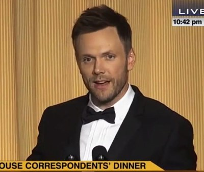joel mchale hair transplant - before and after - 2014 correspondents dinner -