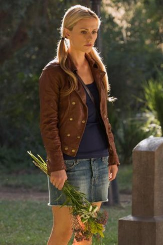 madewell leather jackets on celebrities - anna paquin - trueblood