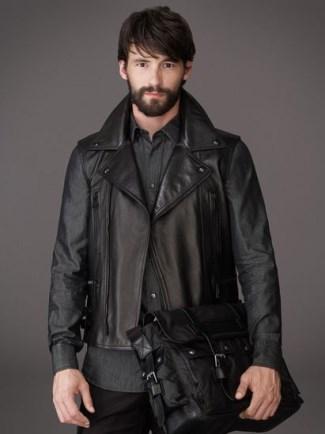 mens leather jacket sale uk - belstaff KINGSLEY GILET