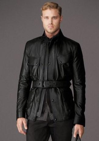 mens leather jacket sale uk - belstaff circuitmaster
