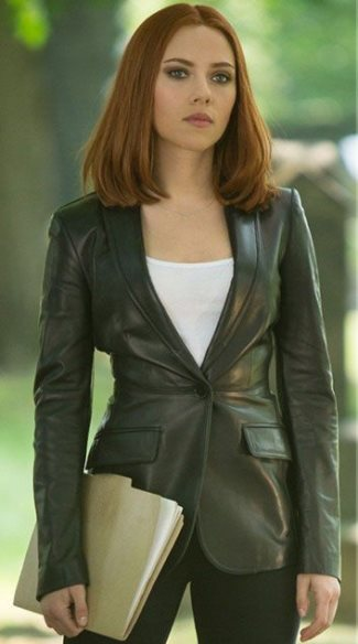 natasha romanoff leather jacket - winter soldier - by burberry london