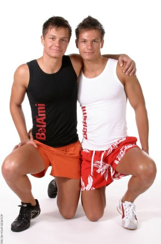 hot male twins modeling elijah and milo peters in boxer shorts underwear