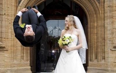 pip andersen wife - becky butcher - wedding photo
