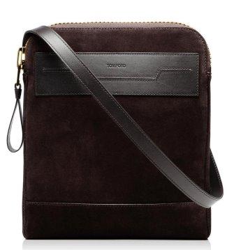 tom ford buckley suede messenger bag - 1700