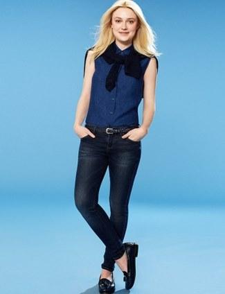top japanese jeans - uniqlo - dakota fanning - 2014 ad