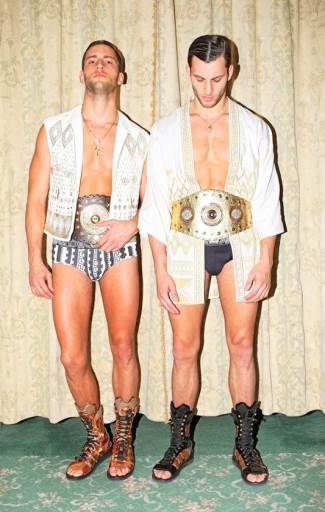 twin brothers as underwear models - Jonathan and Kevin Ferreira de Sampaio for homme style magazine