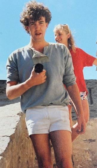 young jeremy clarkson short shorts