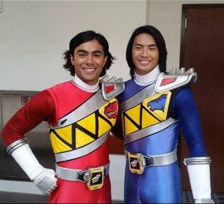 Yoshi Sudarso blue power ranger with brennan mejia