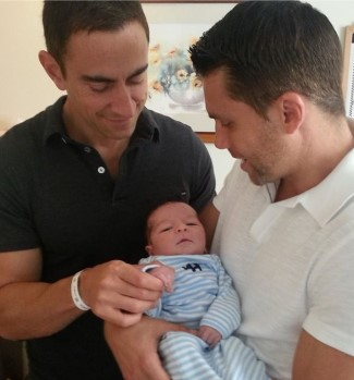adam joseph boyfriend husband partner karl and baby jacob