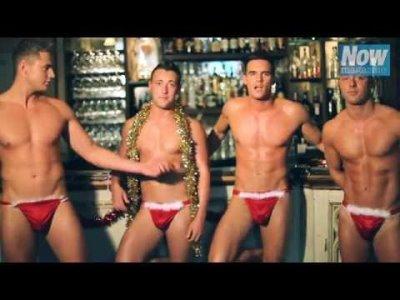 men in thongs - geordie shore - Gaz Beadle Ricci Guarnaccio Daniel Thomas-Tuck and Scott Timlin