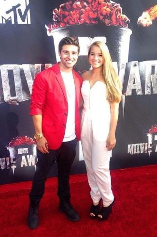 jake miller girlfriend - madisonbertini - mtv movie awards 2014