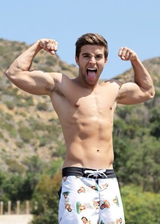 jake miller shirtless