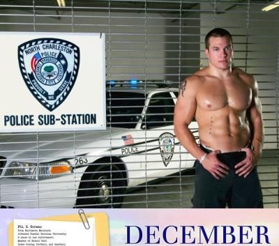 real police hunks shirtless - north charleston - for special olympics - k gorman
