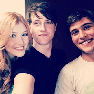 shane harper with cameron moulene and kat mcnamara