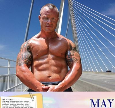 shirtless cops - north charleston calendar - pfc s souther