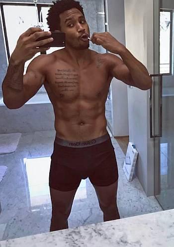 trey songz underwear - guys with iphones