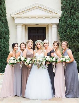 Ashley Tisdale Christopher French wedding - bridal entourage