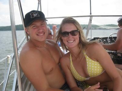 blaine gabbert shirtless -with girlfriend bekah mills in two-piece bikini swimsuit
