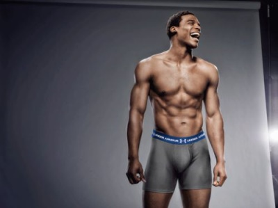 shirtless nfl players - cam newton underarmour model