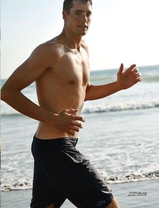 john isner shirtless - body - lacoste shorts