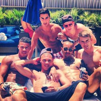 kieran gibbs shirtless - with arsenal teammates