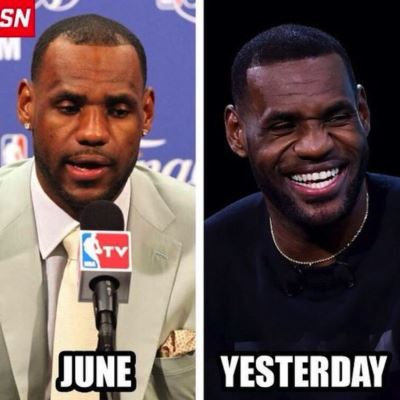 lebron james changing hairline - before and after - washington times