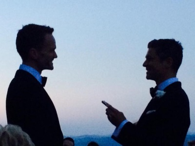 neil patrick harris - david burtka wedding photos