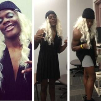 teddy bridgewater drag queen - showing underwear