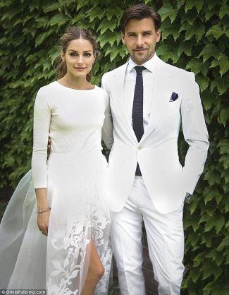 white wedding tuxedo - Johannes Huebl wedding with reality tv star olivia palermo