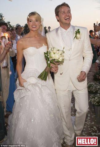 white wedding tuxedo for groom - Sam Branson wedding to Isabella Calthorpe