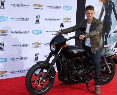 Jean-Luc Bilodeau leather jacket - captain america premiere