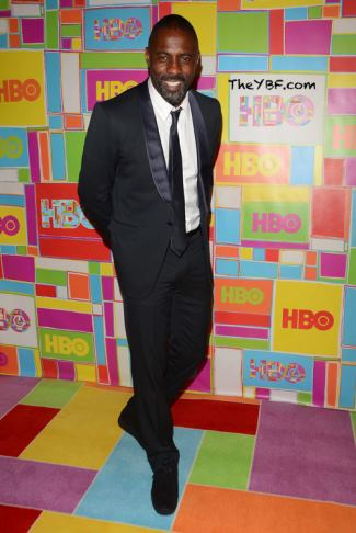 celebrity gucci suits - idris elba in Gucci Made to Order satin shawl-lapel Signoria tuxedo - emmys 2014