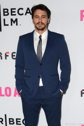 celebrity in gucci mens suits - james franco