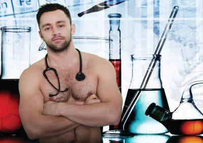 shirtless doctors calendar - july 2015