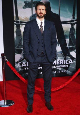 gucci suits for men - celebrity - chris evans