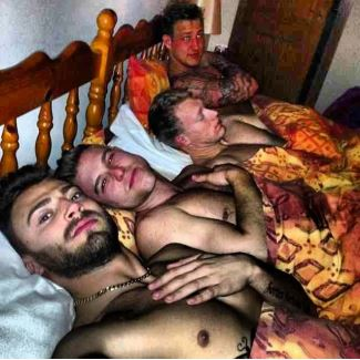 jake quickenden gay or straight - with three men in bed
