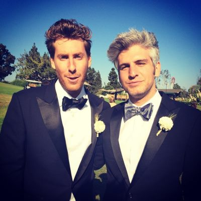 max joseph gay in tux - with married friend