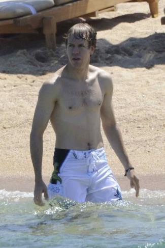 sebastian vettel shirtless