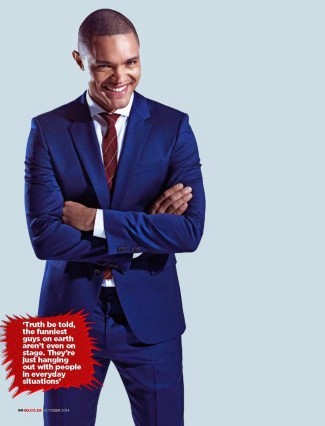 trevor noah fashion - blue suit - gq south africa