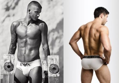 white briefs underwear for men - armani and garcon