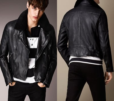 Burberry Brit Shearling Topcollar Leather Jacket3